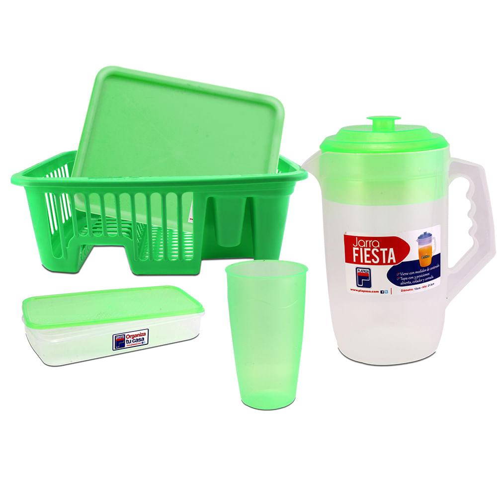 Escurridor plástico para platos con accesorios 1f844b1c24c4