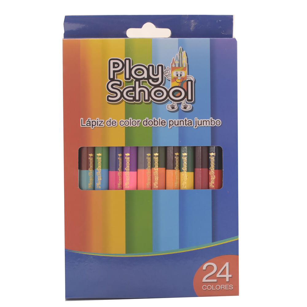 Lapiz-de-color-Play-School-12-uds-doble-punta-jumbo
