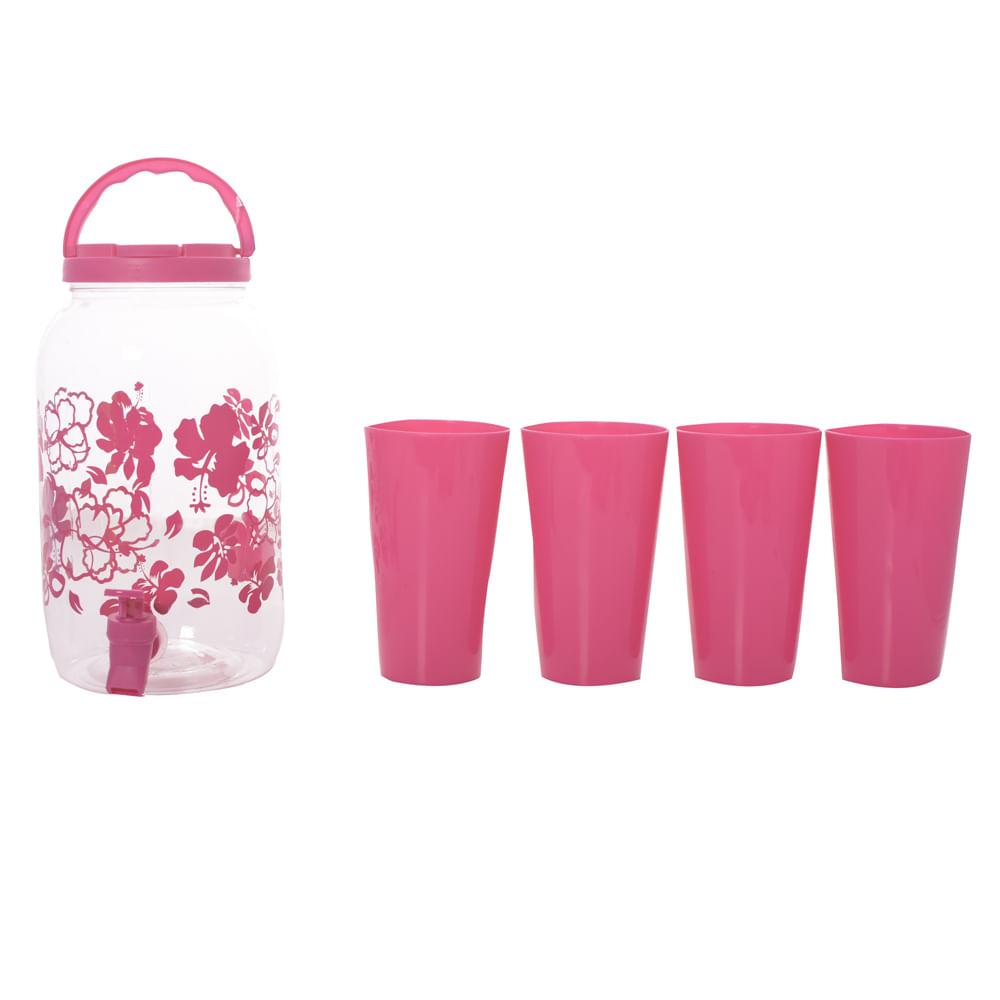 Dispensador-Plastico-HomeClub-3L-con-4-vasos