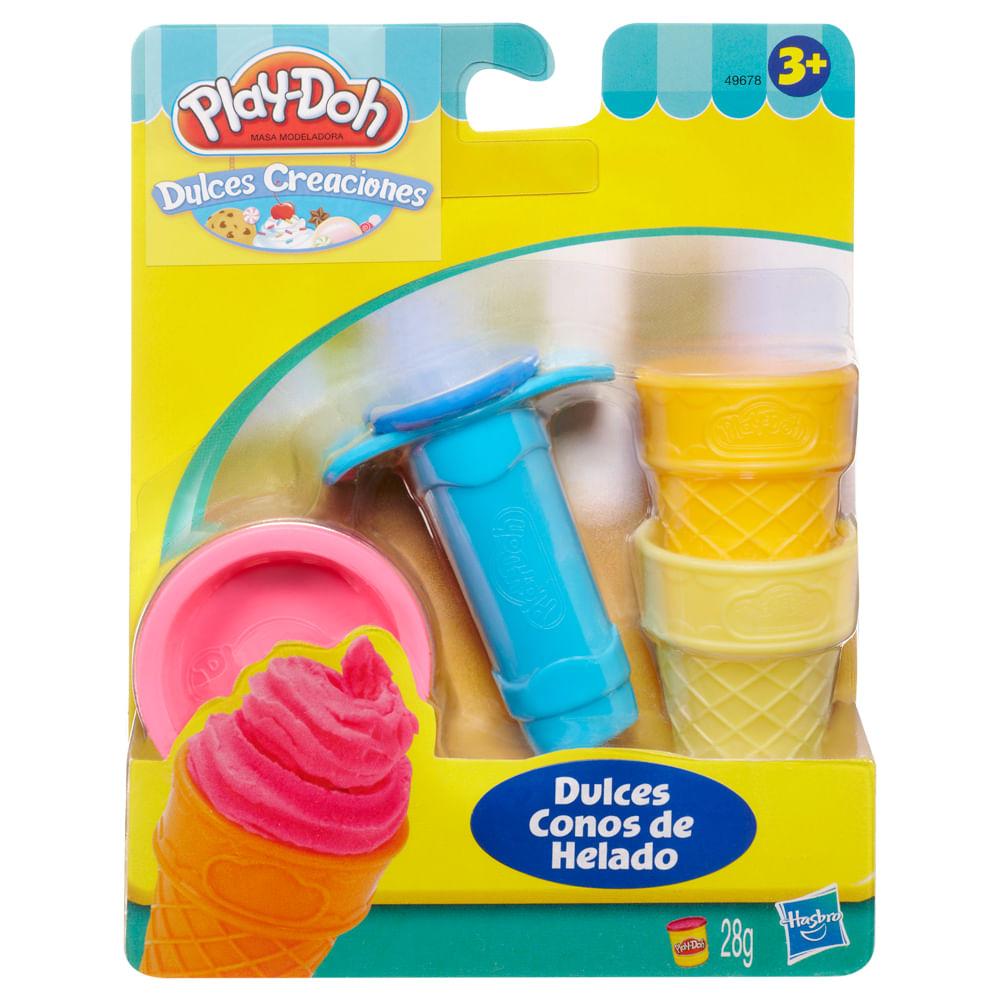 Set-De-Mini-Herramientas-Play-Doh-x4pza-Dulces-Conos-De-Helado