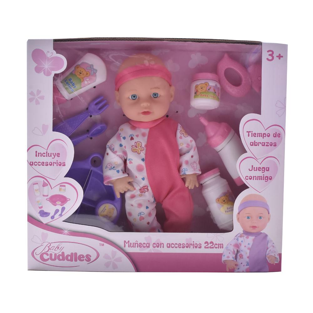 Muneco-Plastico-22-cm-con-accesorios-Baby-Cuddles