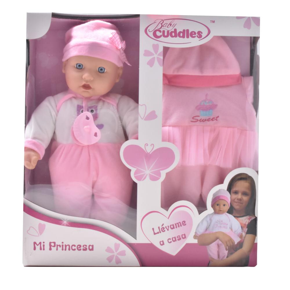 Muñeca-Plastica-40-cm-con-accesorios-Baby-Cuddles