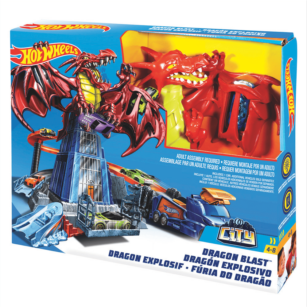 Pista-De-Carros-30-cm-Hot-Wheels-Dragon-Explosivo