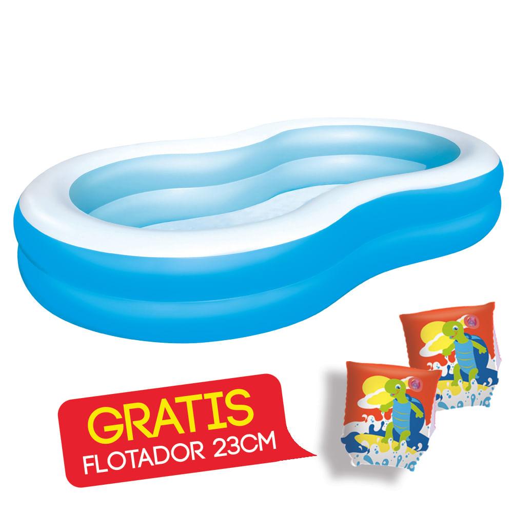 Piscina-inflable-BestWay-201-x-150-x-51-cm-GRATIS-Flotador