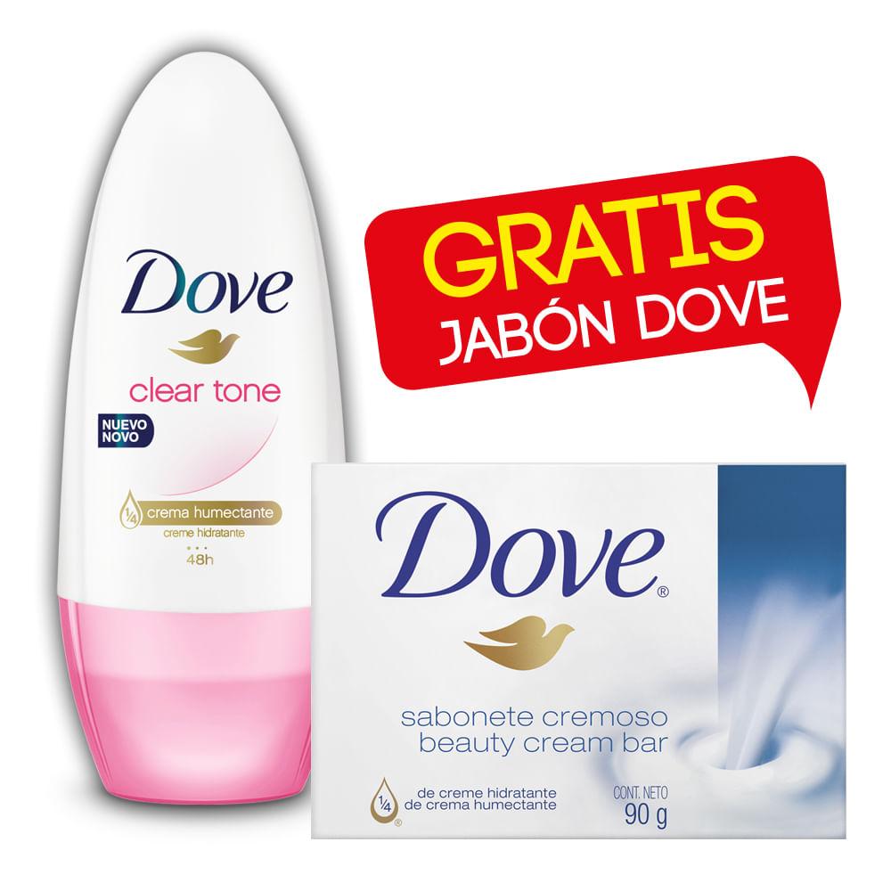 Desodorante-Dove-Roll-On-50-ml-Clear-Tone-Gratis-Jabon-Dove-90-g