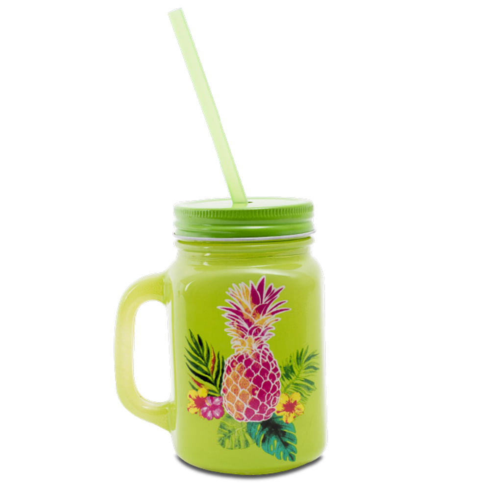 Jarro-de-vidrio-HomeClub-con-tapa-450-ml-coleccion-tropical-piña