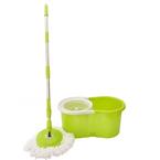 Trapeador-plastico-HomeClub-giratorio-con-balde-Verde