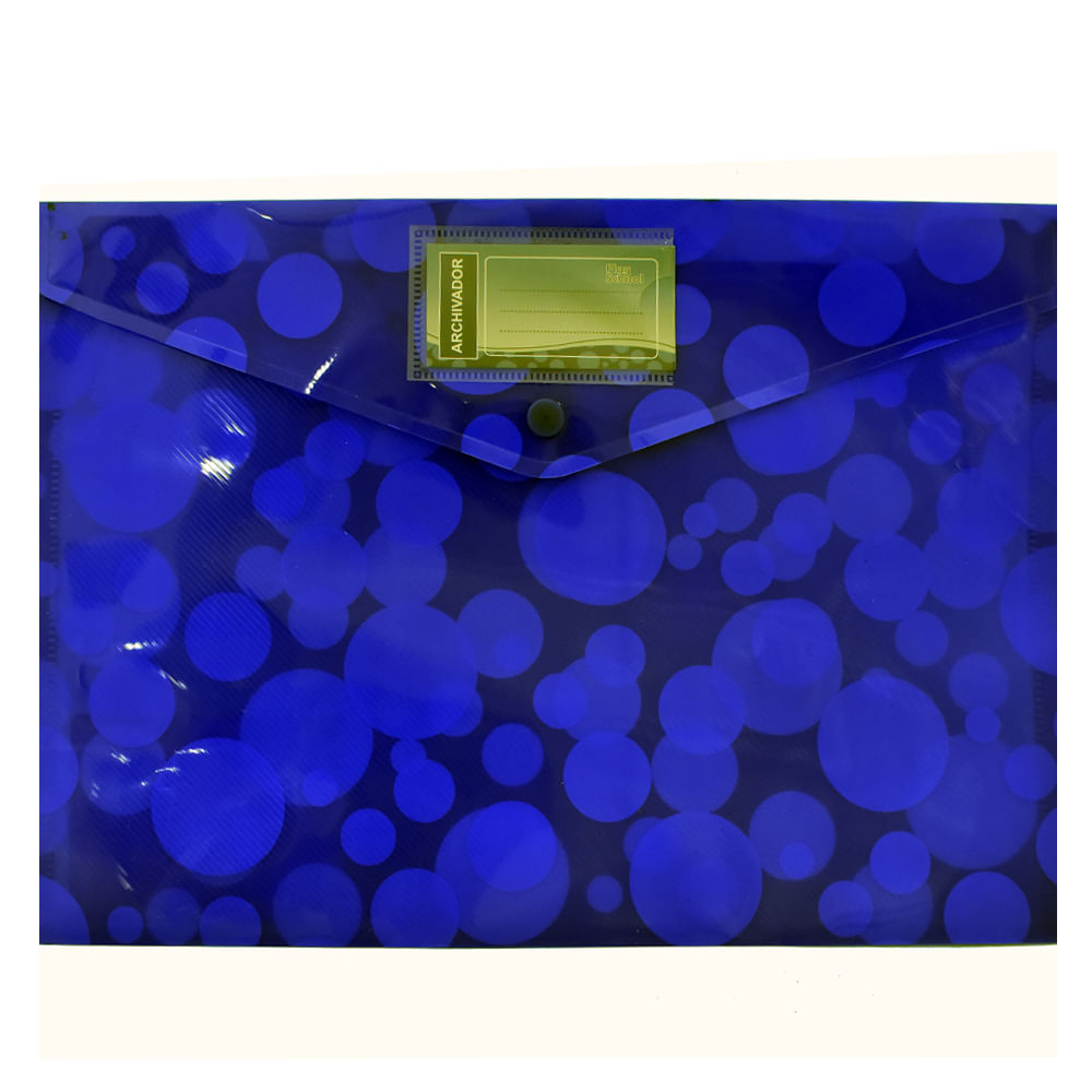 Sobre-plastico-A4-Play-School-azul