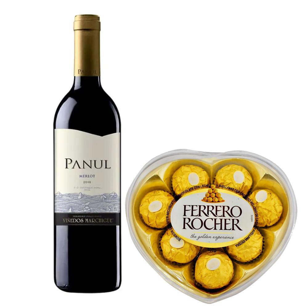 Vino-Panul-750-ml-Merlot---Bombones-Ferrero-Rocher-100-g-Corazon