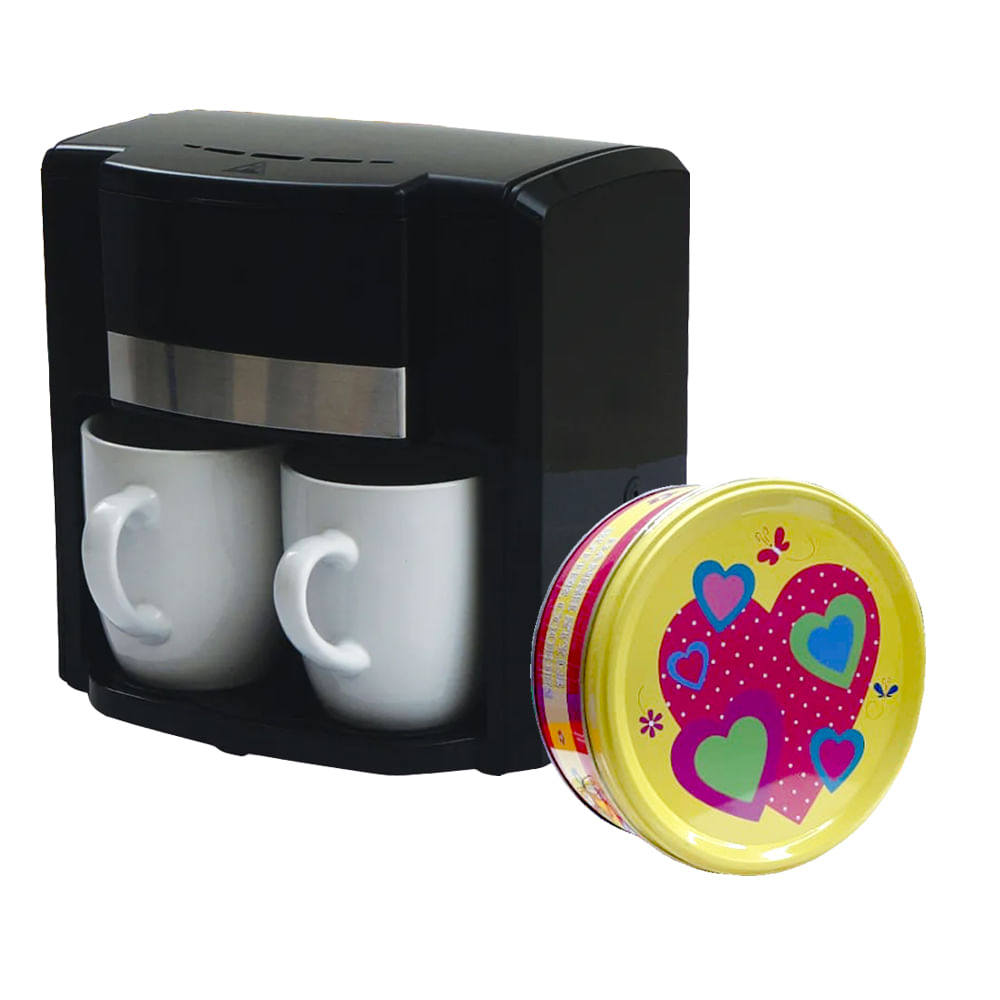 Cafetera-Electrica-Hometech-300-ml---Galletas-dulces-Danesa-150-g-Corazon