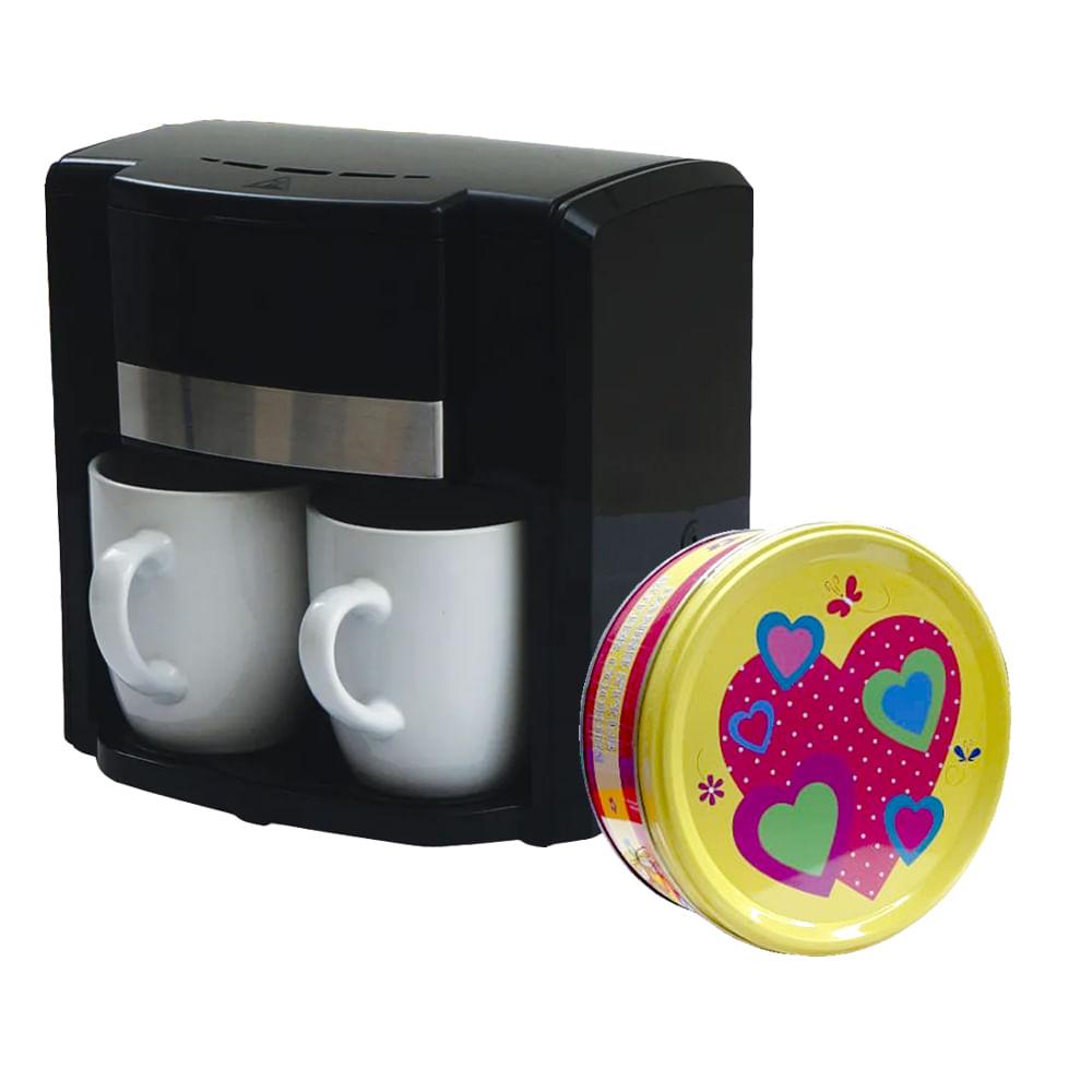 Cafetera-Electrica-Hometech-300-ml---Galletas-dulces-Danesa-150-g-Corazon