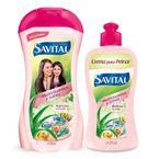 Shampoo-Savital-multivitaminas-550-ml---crema-de-peinar-275-ml