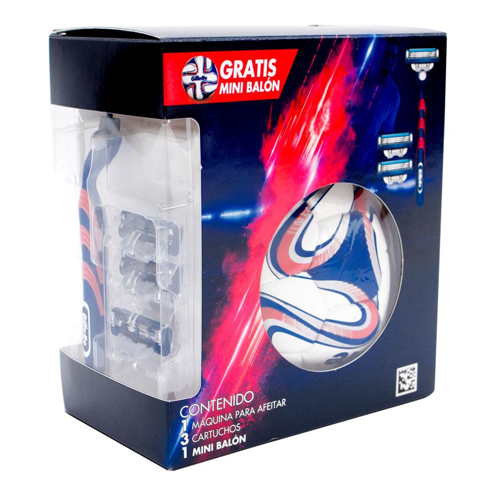Maquina-de-afeitar-Gillette-Mach3-3-uni-con-mini-balon
