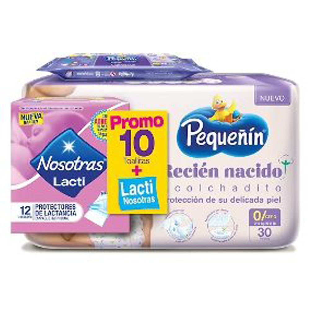 Pañales-pequeñin-30-uds-Etapa-0-GRATIS-pañitos-humedos-y-Toallas-protectores-de-lactancia