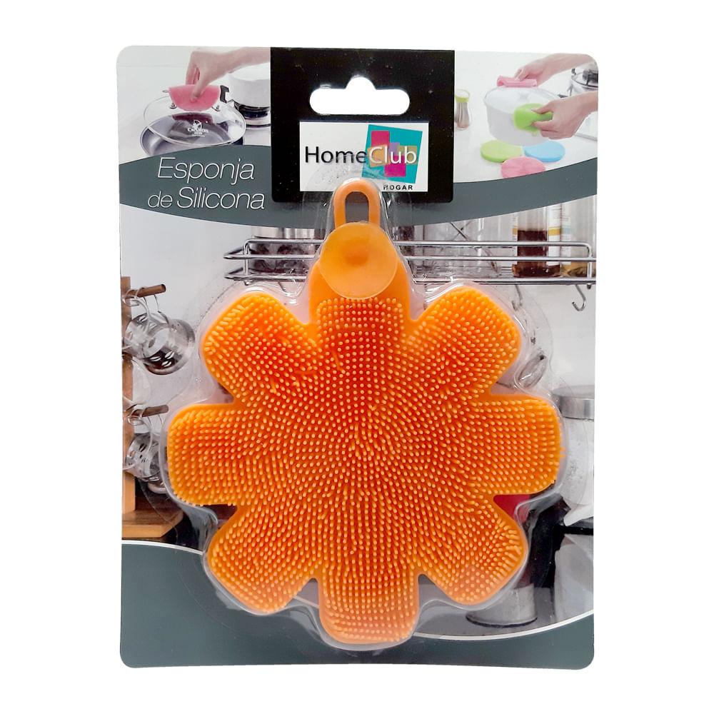 Esponja-de-silicona-12-cm-Homeclub-flor-naranja