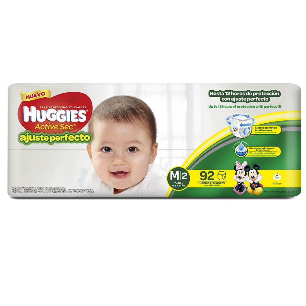 Pañales-Huggies-Ajuste-Perfecto-92-uds---Talla-M
