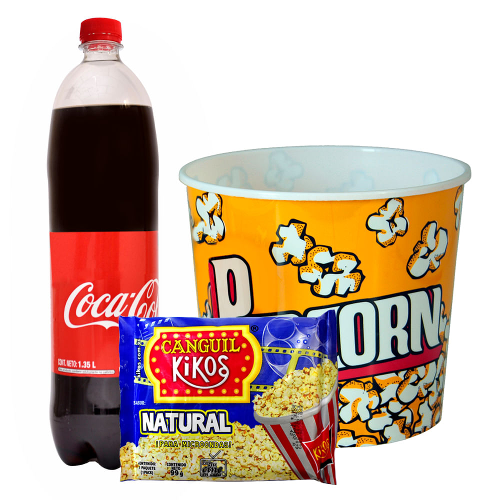 --Coca-cola-1.35-L---Canguil-para-microondas-Natural-Kikos-99-g---Tazon-plastico-1.8-L-Homeclub