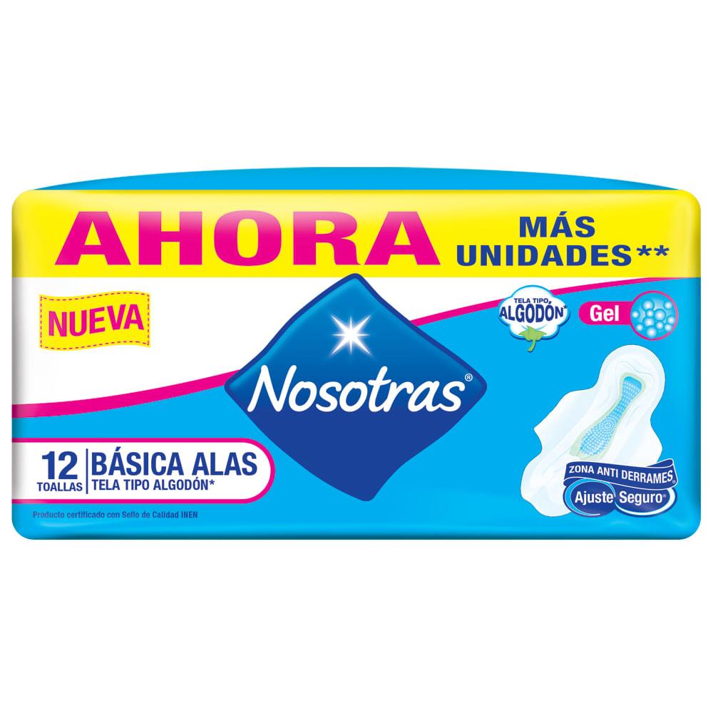 Toallas-sanitaria-Nosotras-con-alas-x12-uds-Basicas