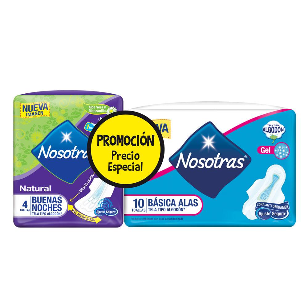 Toallas-Sanitarias-Nosotras-Basicas-x10-uds.---Toallas-Buenas-noches-4-uds.--