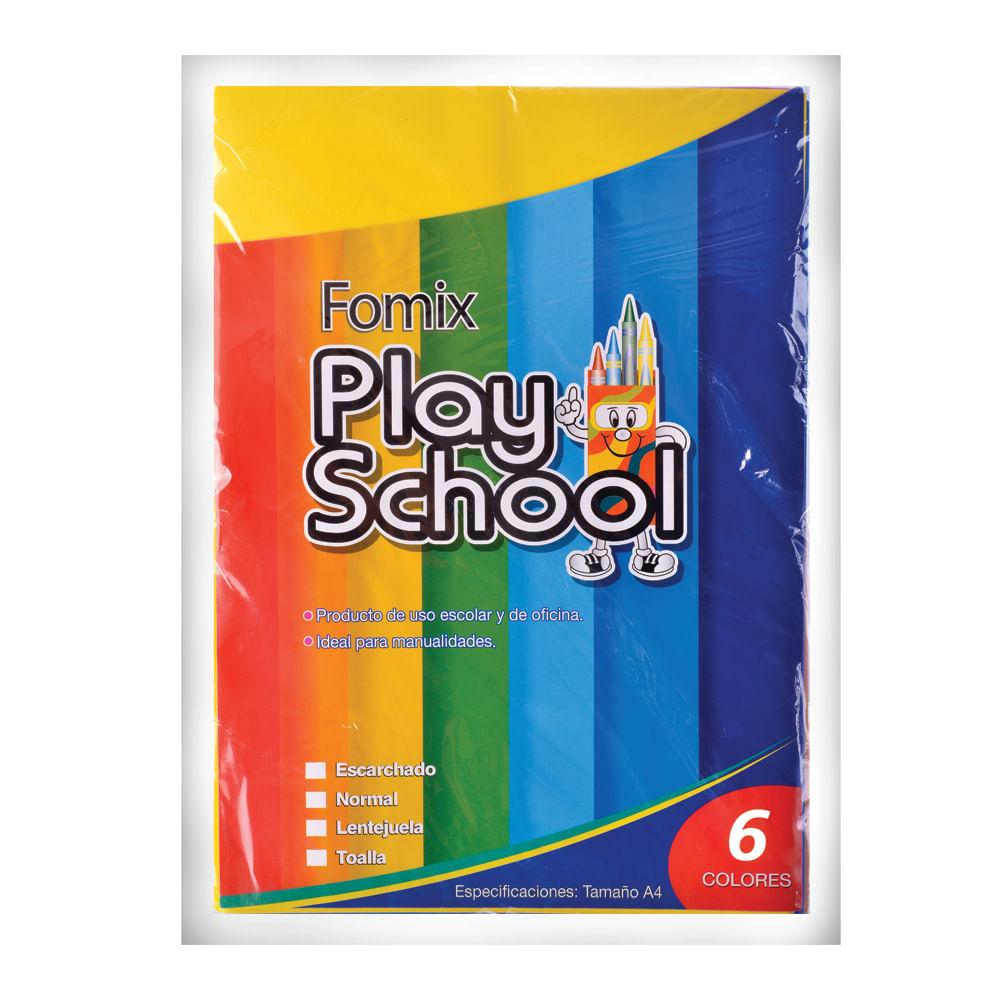 Fomix-escarchado-A4-Play-School-6-uds.-surtido