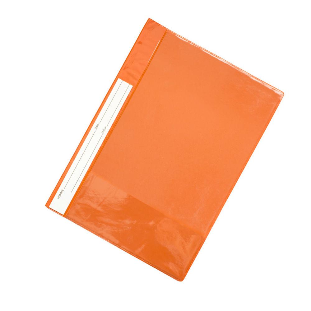 Carpeta-plastica-Naranja-con-vincha-folder-oficio-Carioca-Extreme-