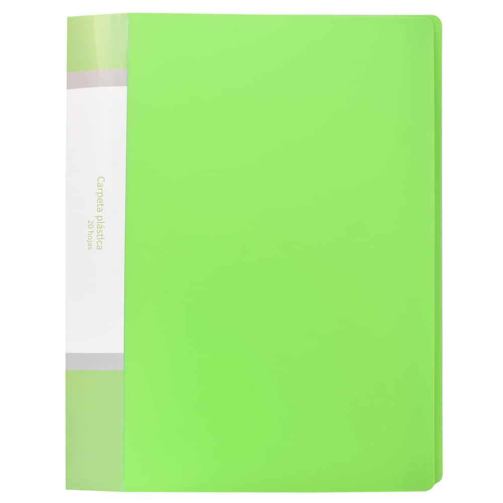 Carpeta-plastica-A4-Verde-Play-School