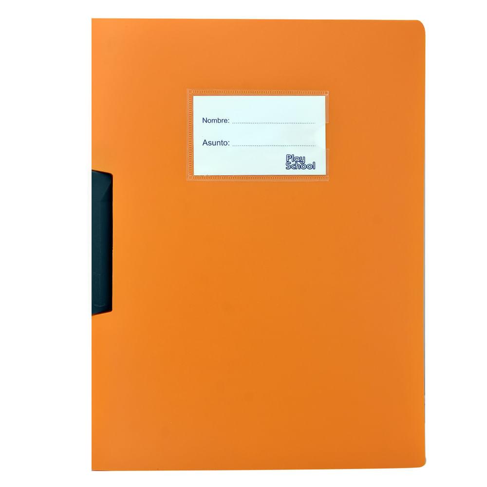 Carpeta-plastica-clip-A4-Play-School-Naranja