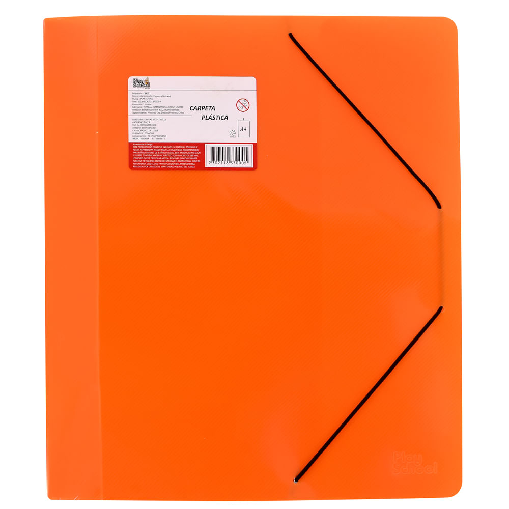 Carpeta-plastica-A4-Naranja-Play-School