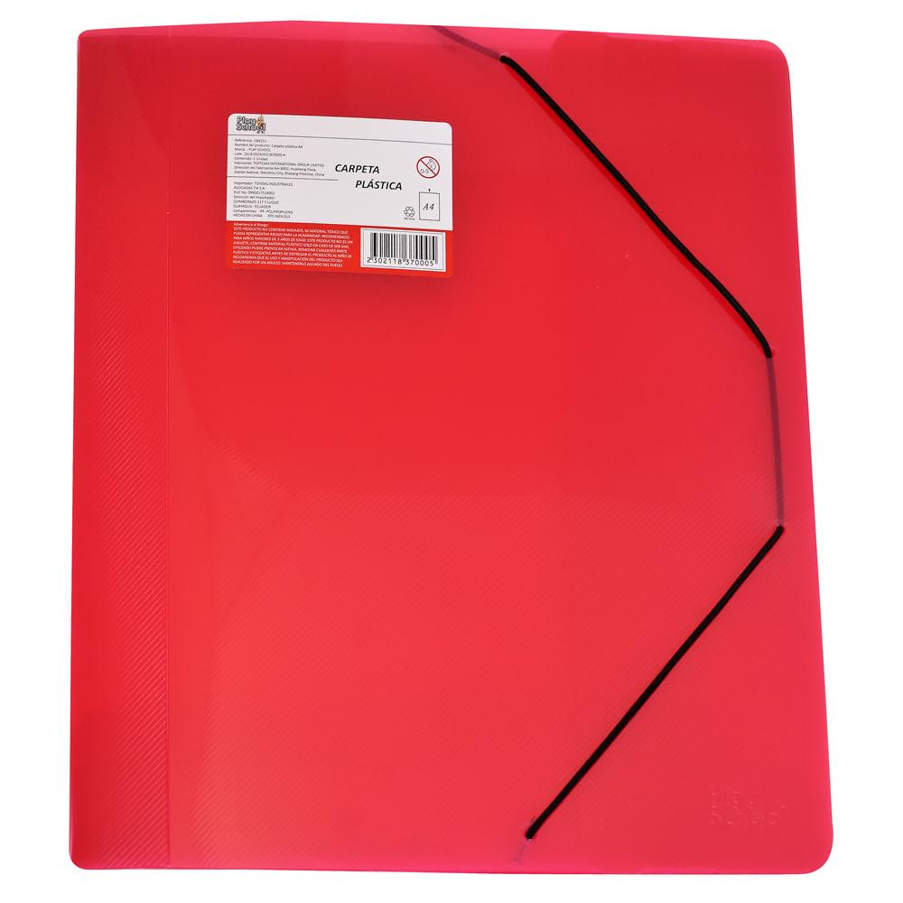 Carpeta-plastica-A4-Roja-Play-School