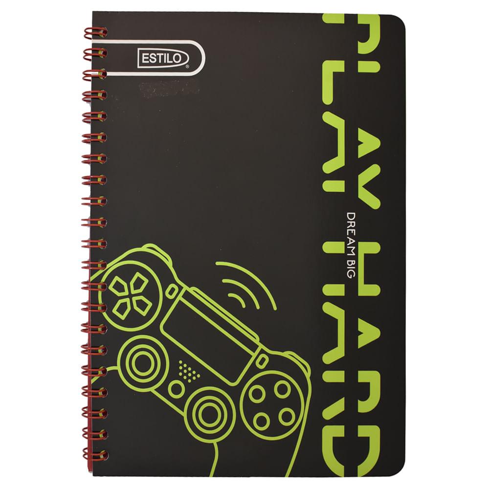 Cuaderno-espiral-universitario-100-h-Estilo-4-lineas-economico-niño