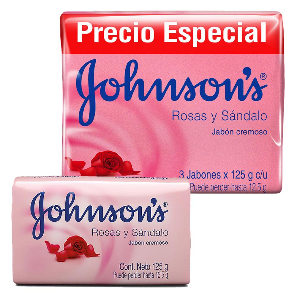 Jabon-Johnsons-125-g-Rosas-y-sandalo-x3-uds.--GRATIS-jabon-125-g