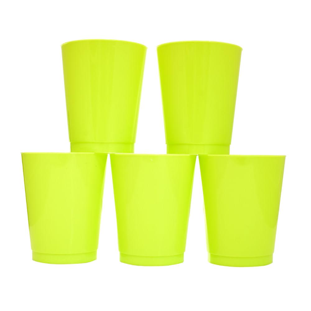 Vaso-plastico-amarillo-295-ml-x5-uds.-Houseware