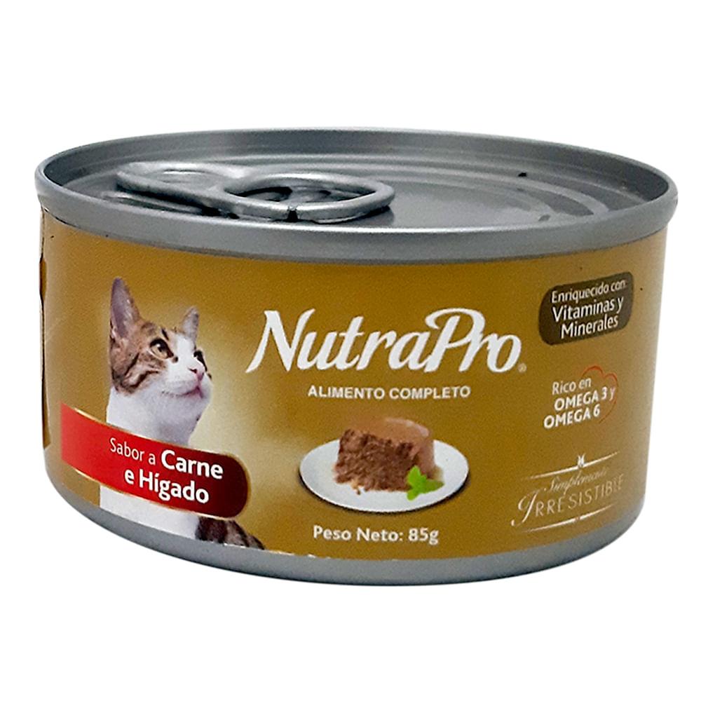 Alimento-humedo-para-gato-NutraPro-85-g-carne-e-higado
