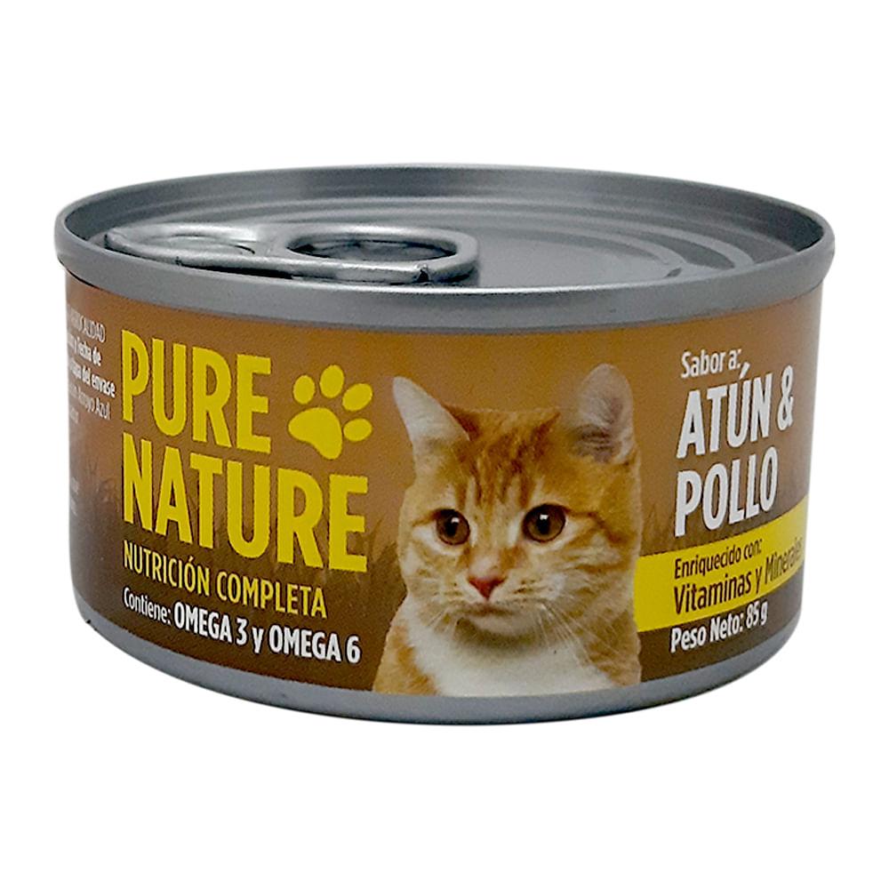 Alimento-humedo-para-gato-Pure-Nature-85-g-atun-y-pollo