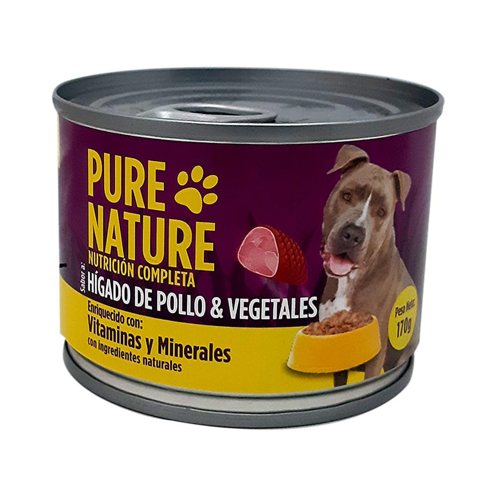 Alimento-humedo-para-perro-Pure-Nature-170-g-higado