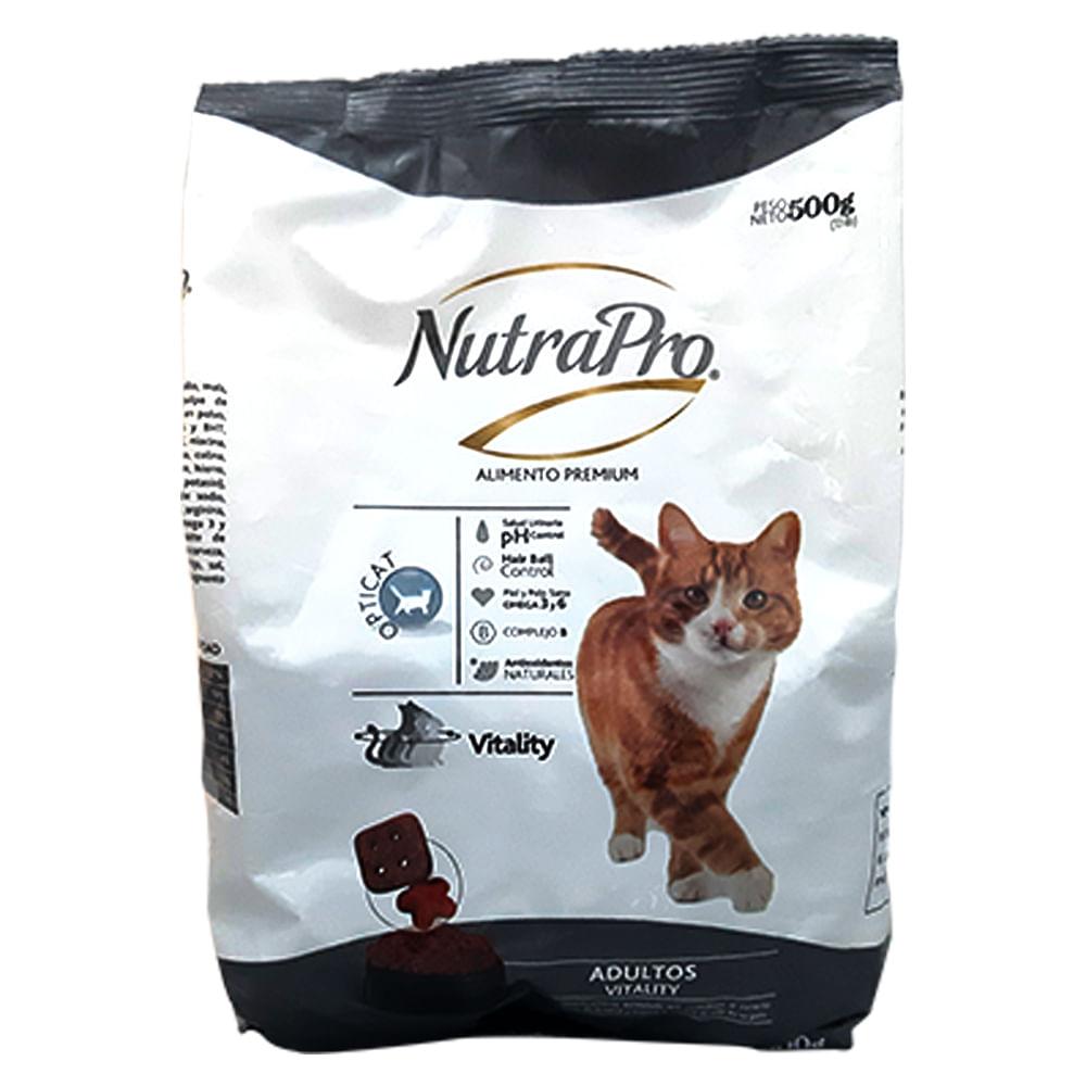 Alimento-para-gato-NutraPro-vitality-adulto-500-g-pescado