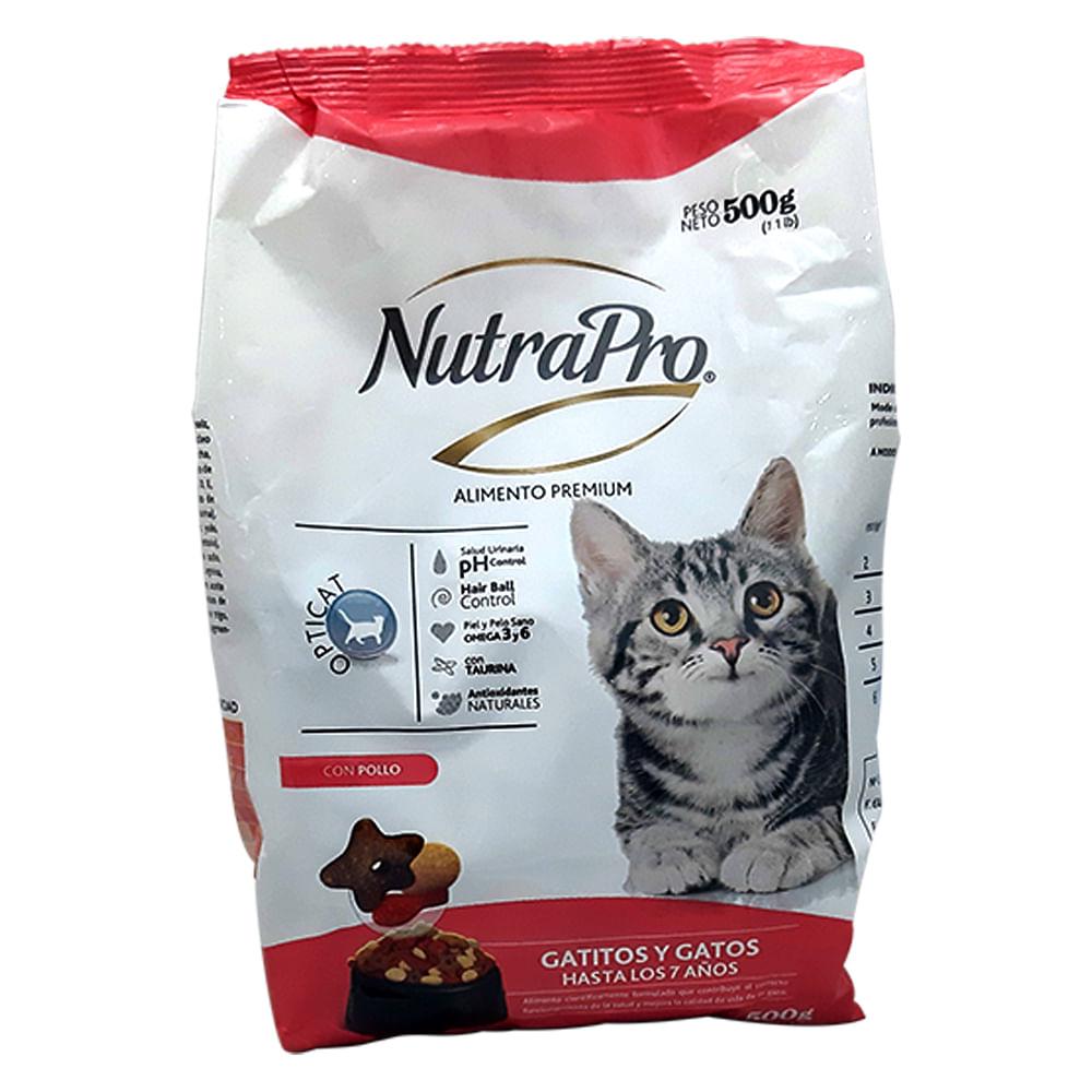 Alimento-para-gato-y-gatitos-NutraPro-500-g-pollo