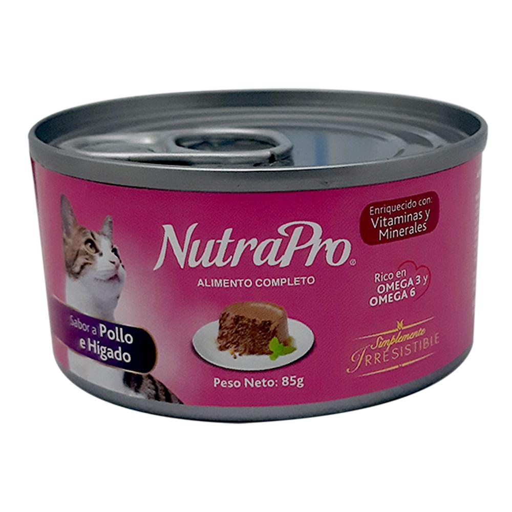 Alimento-humedo-para-gato-NutraPro-85-g-pollo-e-higado