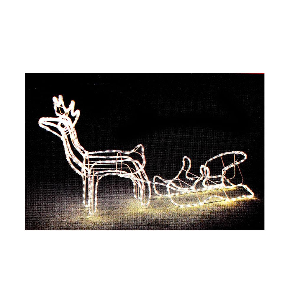 Adorno-Best-Xmas-C-Luz-LED-reno-y-trineo-blanco-