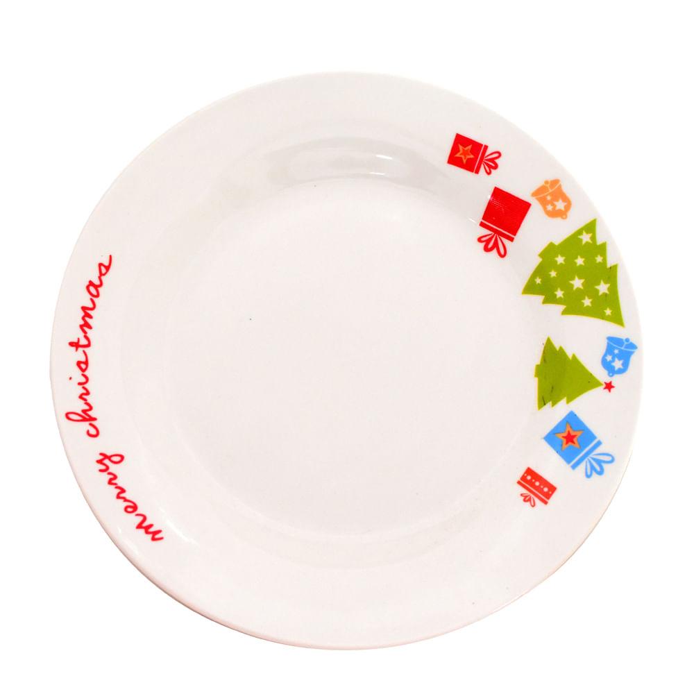 Plato-tendido-de-porcelana-Best-Xmas-26-CM-Navidad