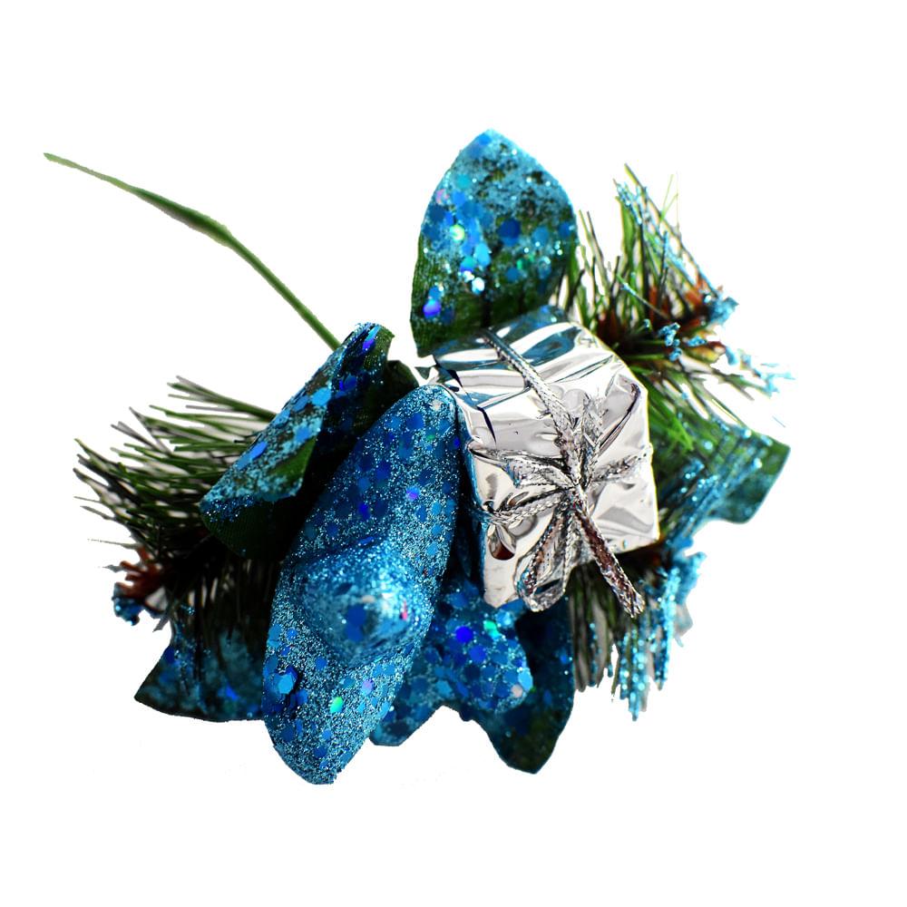 Pincho-Best-Xmas-18-CM-escarchado-azul
