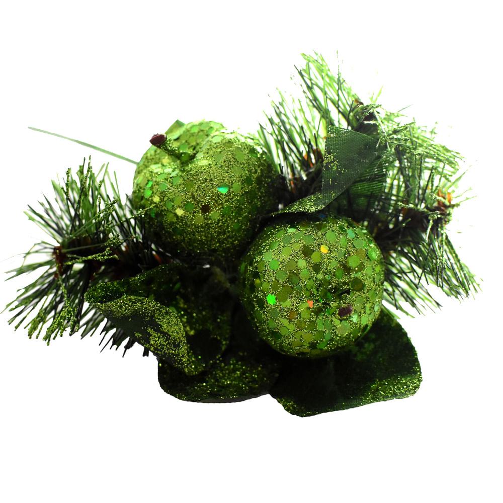 Pincho-Best-Xmas-18-CM-escarchado-verde