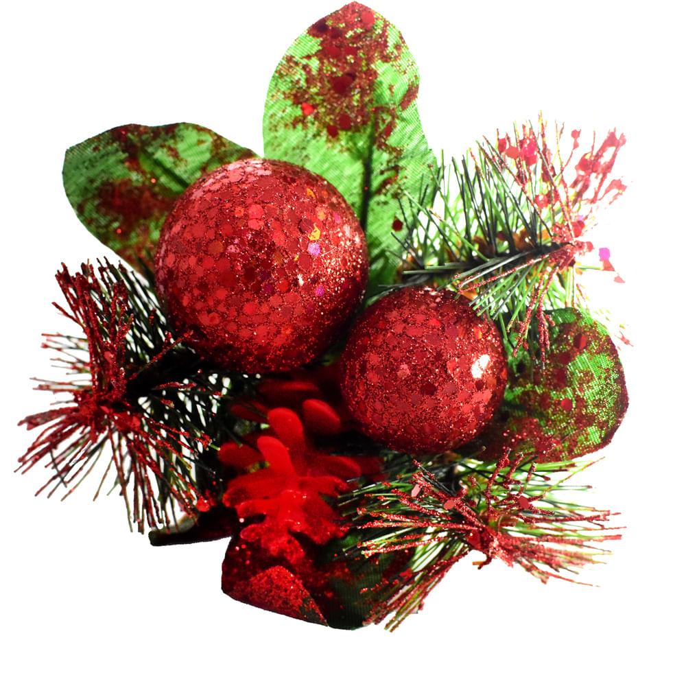 Pincho-Best-Xmas-18-CM-escarchado-rojo