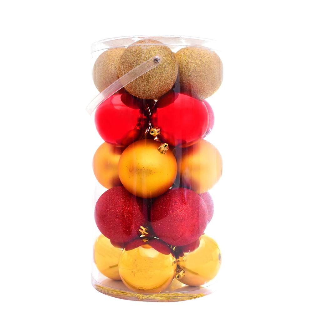 Esferas-plasticas-Best-Xmas-80-MM-X-20-UNI-Rojo---Dorado