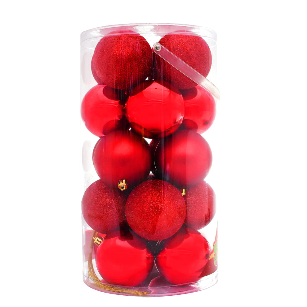 Esferas-plasticas-Best-Xmas-80-MM-X-20-UNI-Rojo