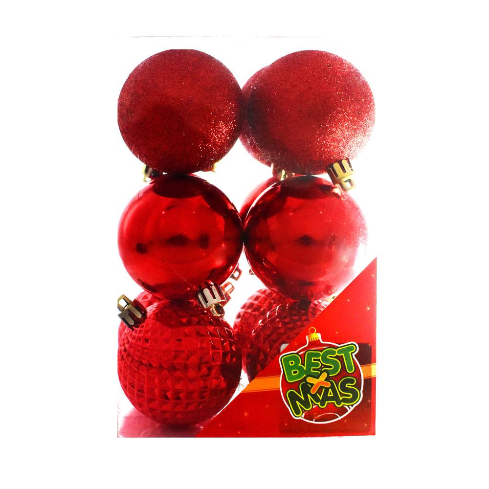 Esferas-plasticas-Best-Xmas-6-CM-X-12-UNI-Rojo