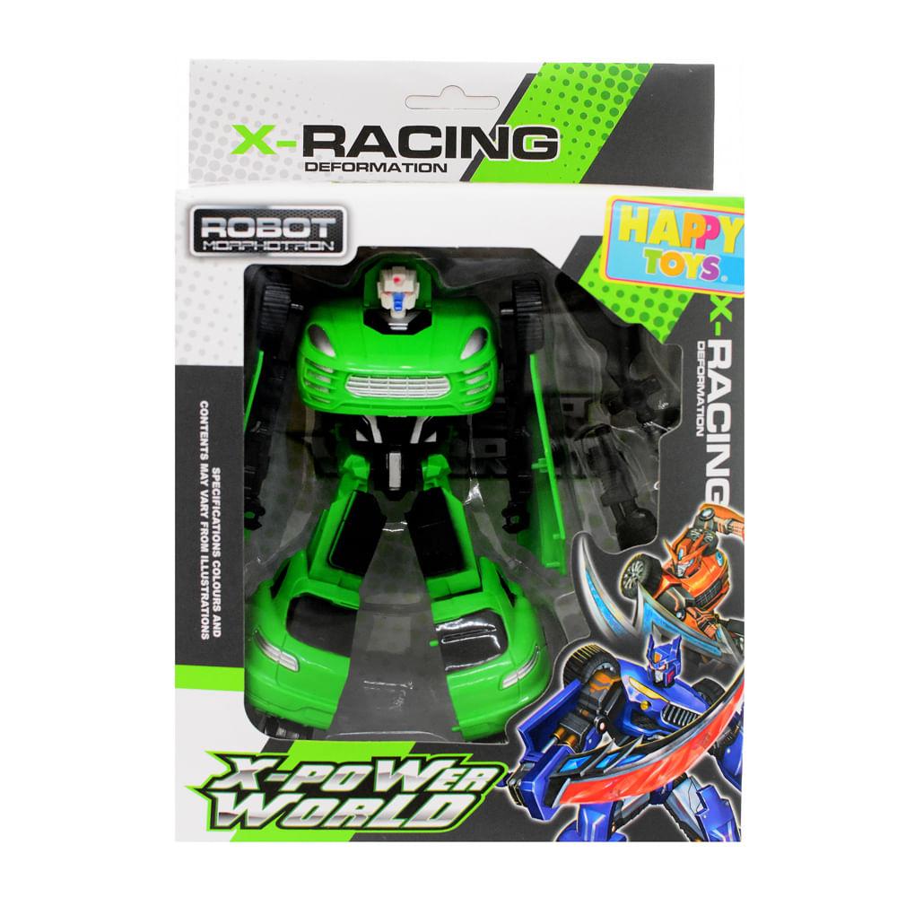 Robot-Transformable-27.5x19x6.3-CM-Happy-Toys-Verde