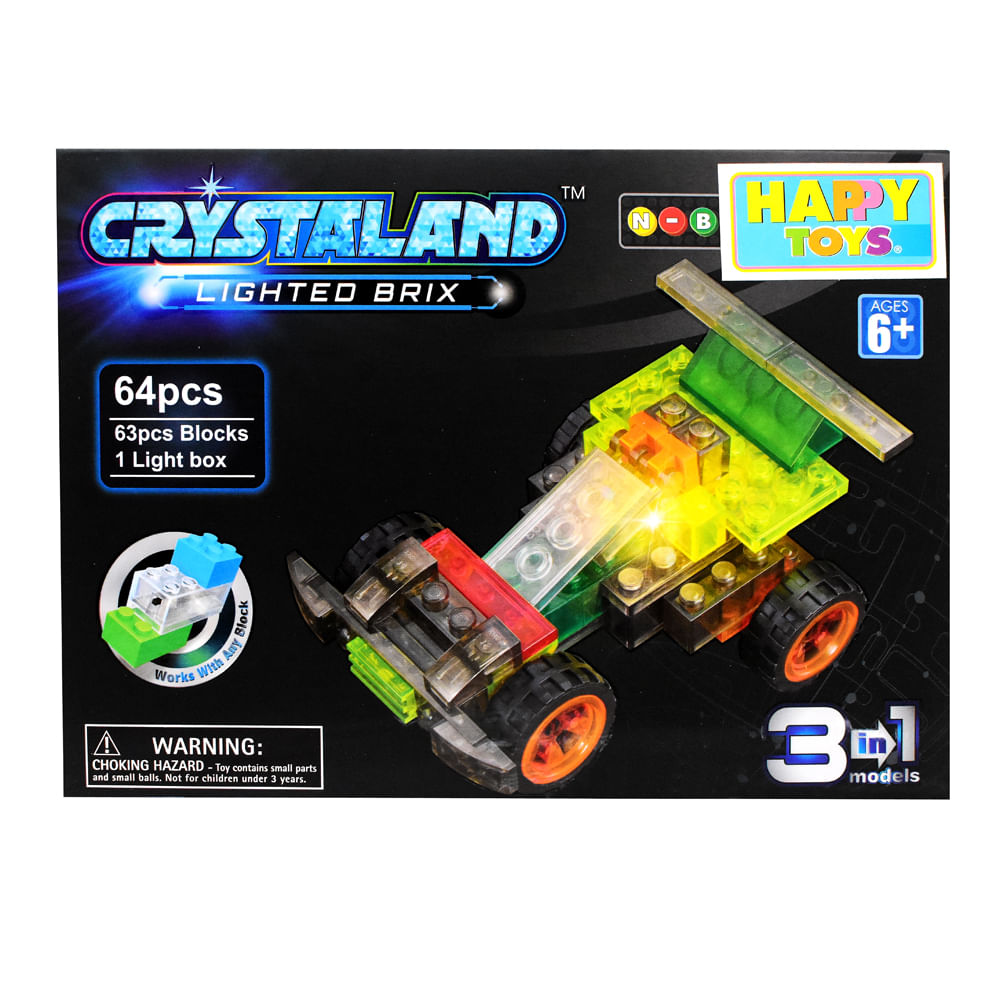 Bloques-Armables-Con-Luces-Happy-Toys-64-Piezas-Carro
