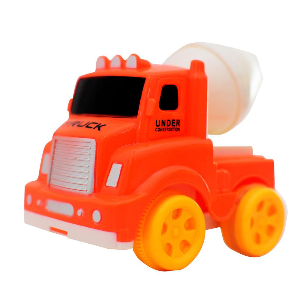 Carro-A-Friccion-Construccion-Mezcladora-12-CM-Happy-Toys-Rojo