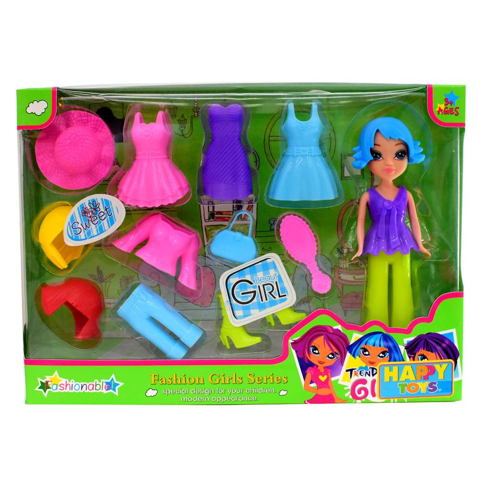 Muñeca-Plastica-con-Accesorios-Happy-Toys-Surtido